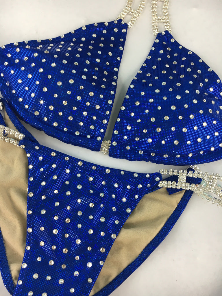 Custom Bombshell Bling Original(Choose any color swatch/fabric)Competition Bikini