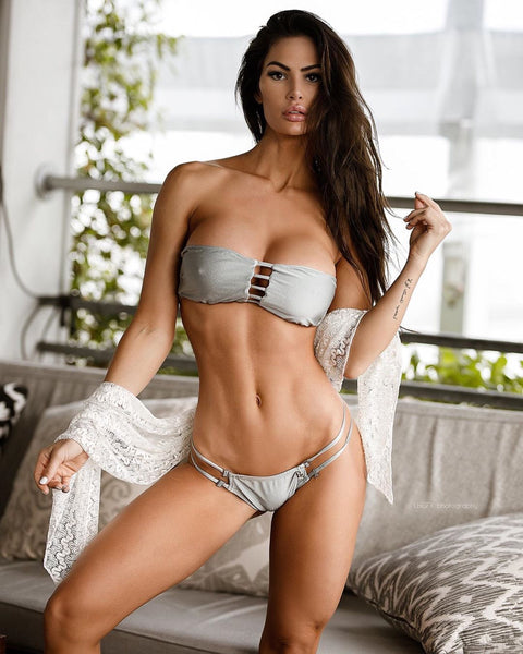 Silver Fox Grey Vixen Multistring Bikini Brazilian Cheeky