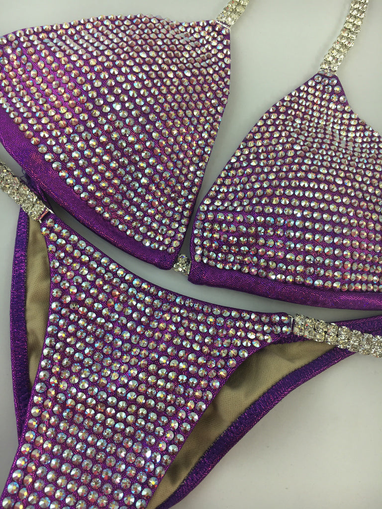 Quick View Competition Bikinis Purple Bombshell Bling Luxe
