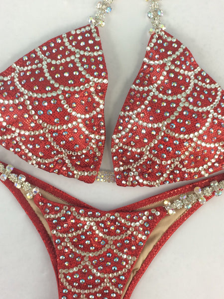 Custom Mermaid Elite Plus (Choose any color swatch/fabric)Competition Bikini