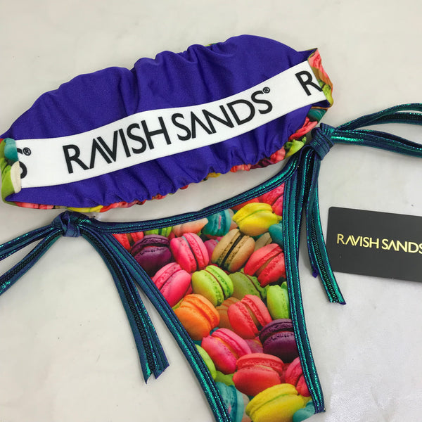 Custom Seamless Strapless Ravish Monogram Macaroon tie string bikini***(SUIT SOLD PER PIECE OR SET, price varies)***(SUIT SOLD PER PIECE OR SET, price varies)