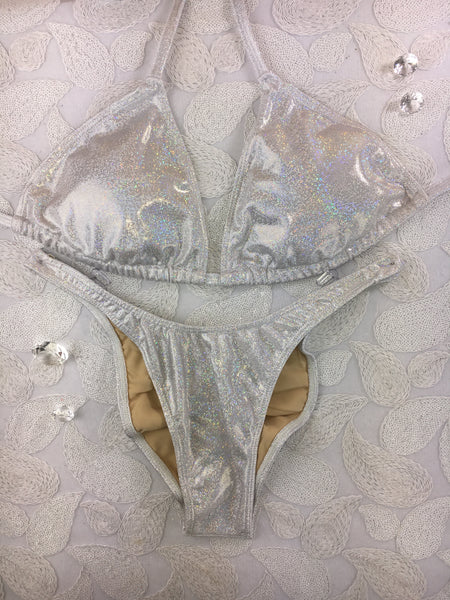 White Sparkle ELF $135(Standard Front/Standard Back/D Cup Top)