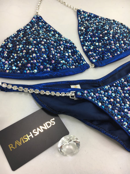 Custom Competition Bikinis Blue