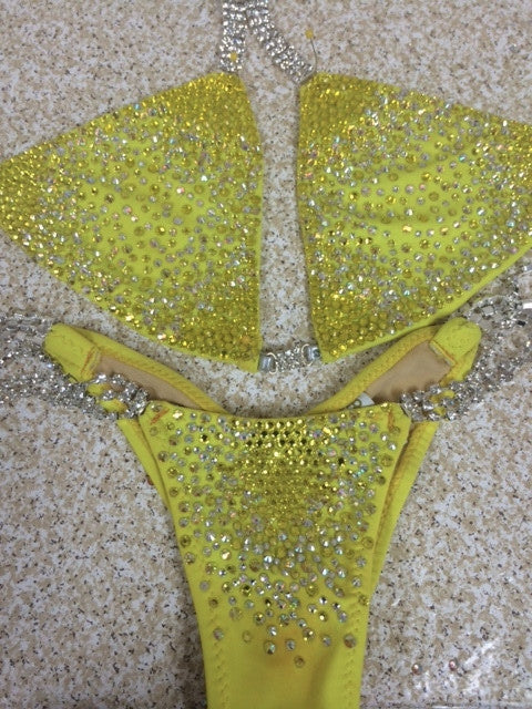 Quick View Competition Bikinis Yellow Lily Starburst Deluxe