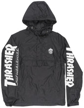 Load image into Gallery viewer, Thrasher X HUF Windbreaker Pullover Hoodie Mens Black