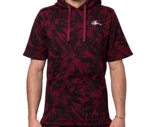 Young & Reckless Topiary S/S Hoodie Burgundy