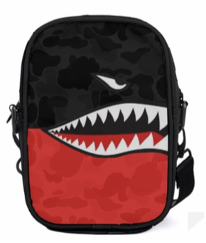 Trophies Sharkmouth Camo Red Sling Bag Unisex