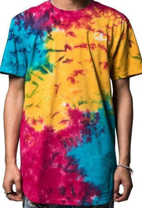 Young & Reckless Mini Sig Elongated Short Sleeve Tee Mens Rainbow