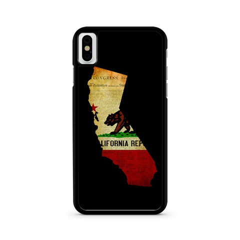 California State Grunge iPhone X case