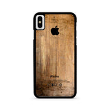 Grunge Wood Print iPhone X case