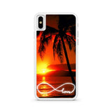 Infinity Love Sunset Beach iPhone X case