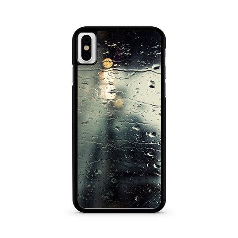 Rain Out Of The Window iPhone X case