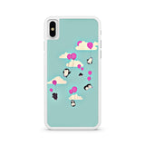 Cute Penguins And Balloons iPhone X case