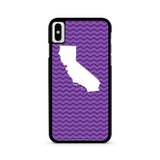 Purple Chevron State Love iPhone X case