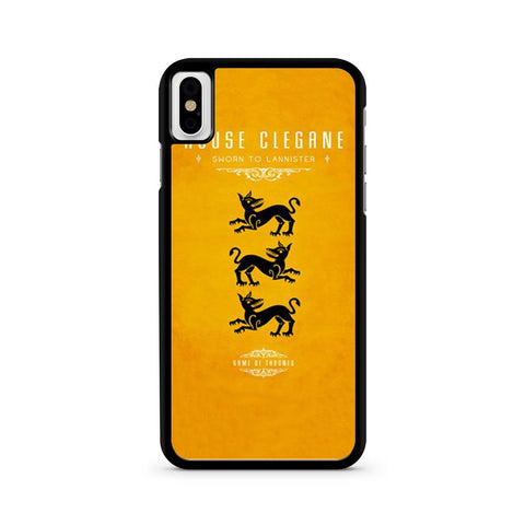 Game Of Thrones House Clegane iPhone X case