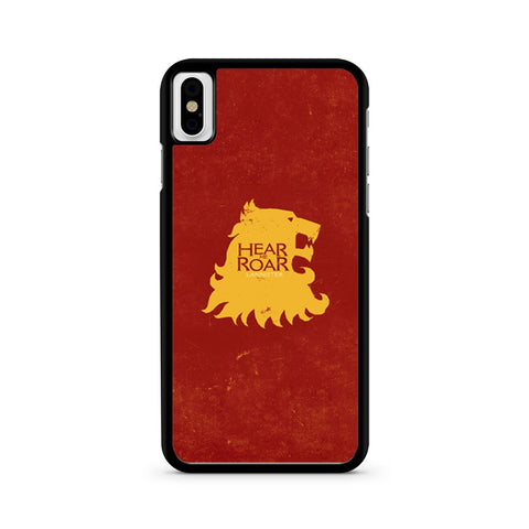 Game Of Thrones Lannister Hear Me Roar iPhone X case
