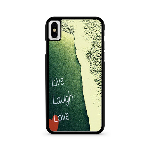 Live Laugh Love Beach Sand iPhone X case