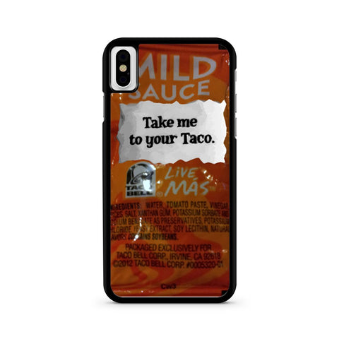 Taco Bell, Take Me To Your Taco iPhone X case