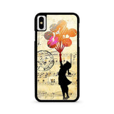 Banksy Balloon Girl Music Sheet iPhone X case