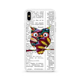 Colorful Owl Dictionary Art iPhone X case