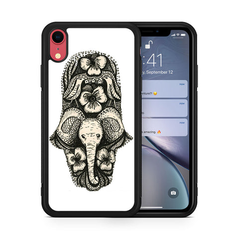 Elephant Hamsa iPhone XR case