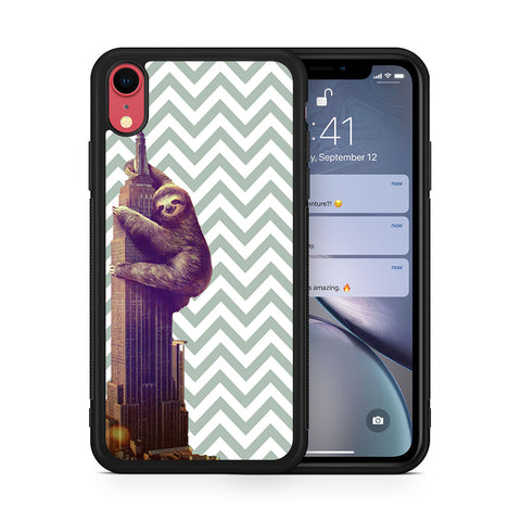 Chevron Sloth Empire Building iPhone XR case