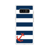 Blue Orange Anchor Samsung Galaxy Note 8 case