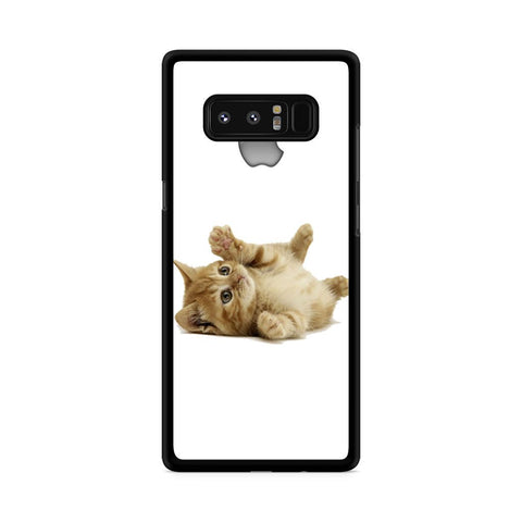 Cute Kitten with apple logo custom Samsung Galaxy Note 8 case