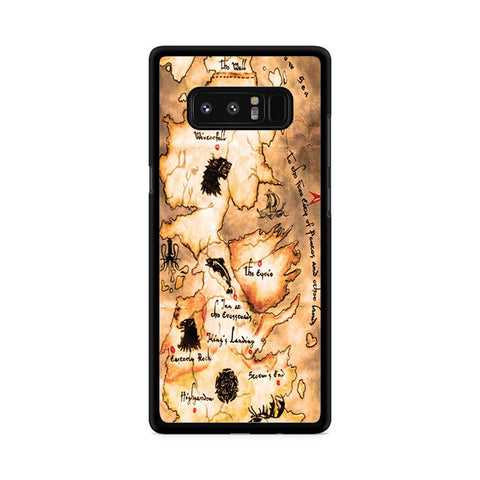 Game of Thrones Map Samsung Galaxy Note 8 case