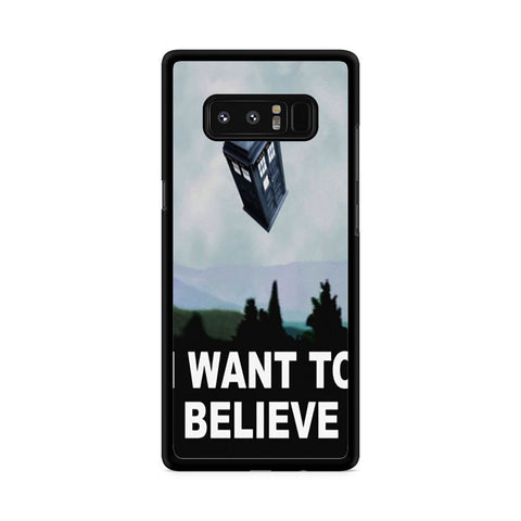 I Want to Believe Tardis Box Samsung Galaxy Note 8 case