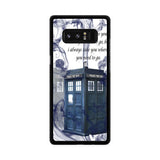 Tardis Doctor Who Smoke Quotes Samsung Galaxy Note 8 case