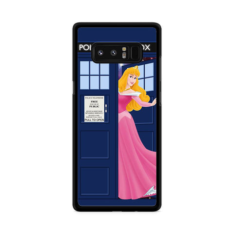 Disney Princess Aurora Tardis Police Box Samsung Galaxy Note 8 case