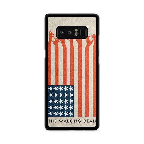 the walking dead america flag Samsung Galaxy Note 8 case