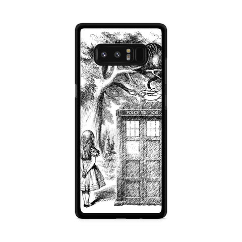 Alice In Wonderland and Cat on Doctor Who Box Samsung Galaxy Note 8 case