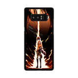 Attack On Titan Eren Yeager Samsung Galaxy Note 8 case