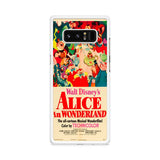 Old Disney Posters Alice In Wonderland Samsung Galaxy Note 8 case