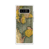 Old World Map Photo Samsung Galaxy Note 8 case
