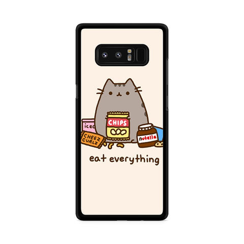 Pusheen The Cat Eat Every Thing Samsung Galaxy Note 8 case