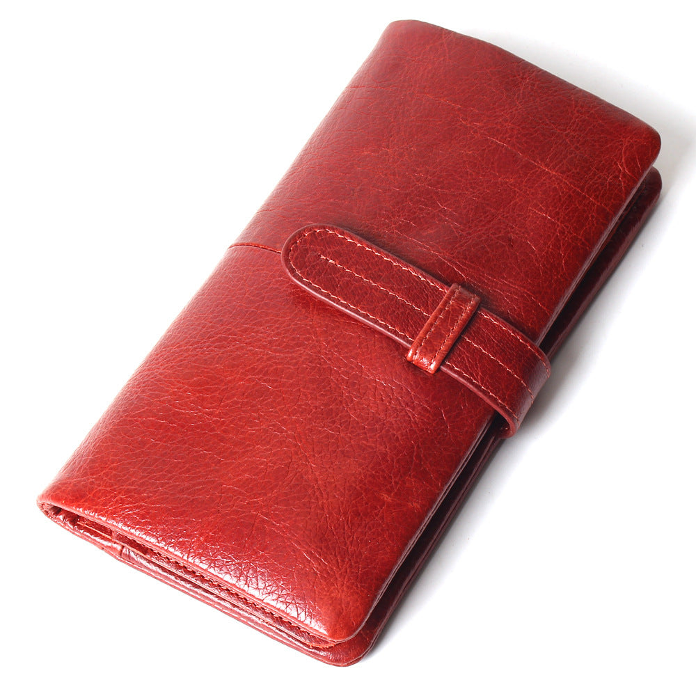Women's Vintage Casual Leather Long Wallet