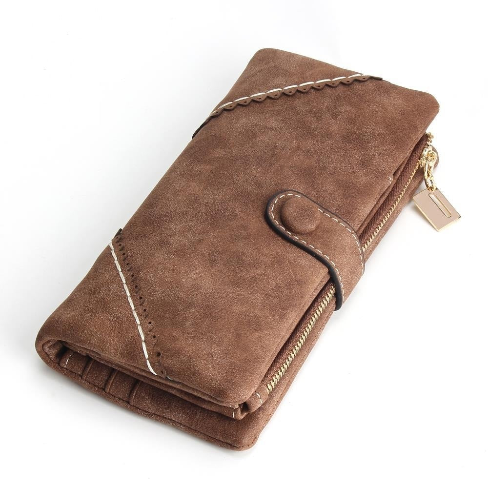 Women's Long Lace Scrub Buckle Zipper Multifunction Wallets