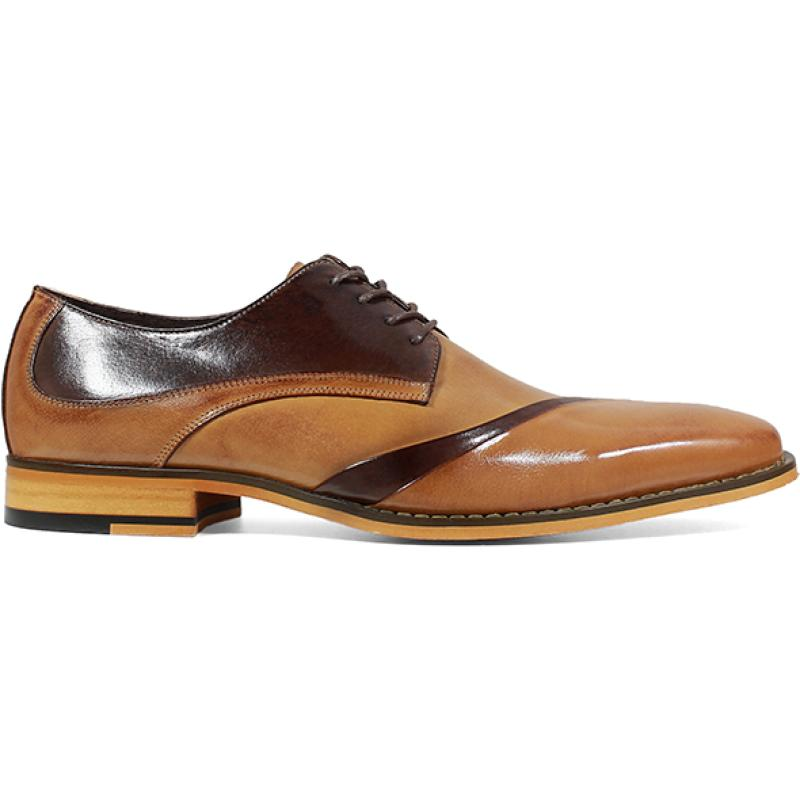 Men's dress shoes leather tie round head business retro brogues