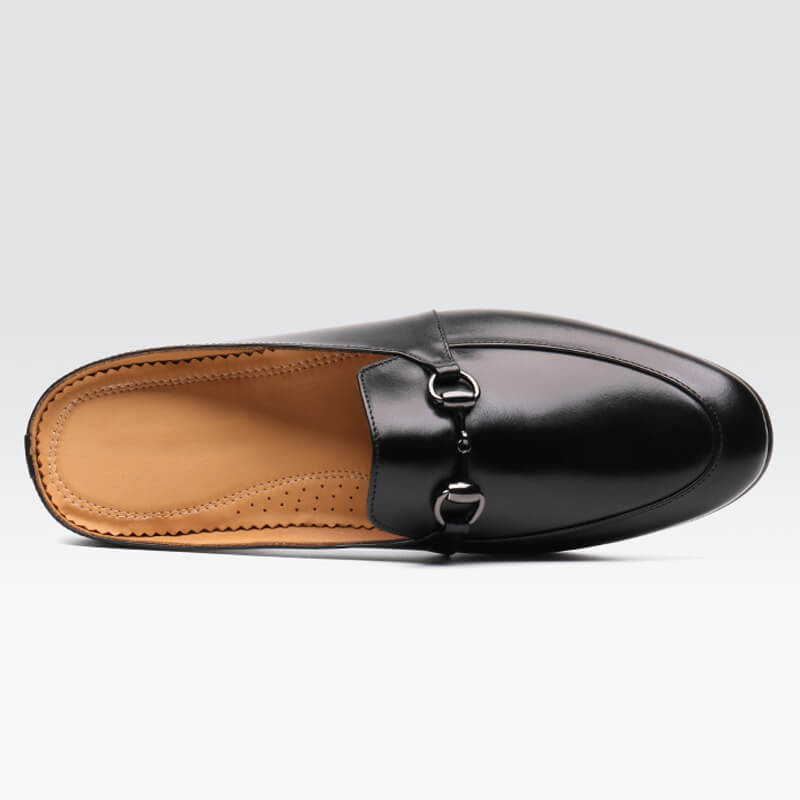 Summer Men Breathable Soft Sole Leather Slipper