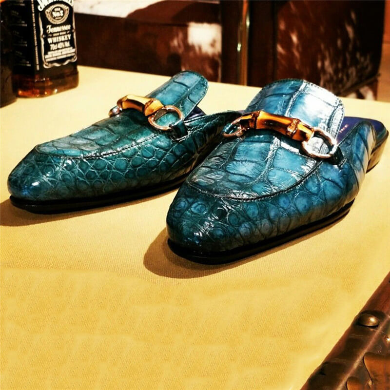 Men Snakeskin Slipper  Sandals