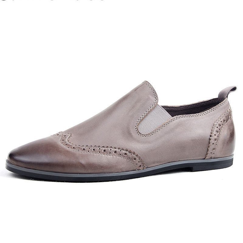 British Style Men's  Leather Brogue Loafers