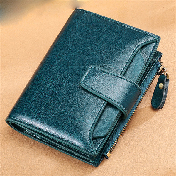 Vintage Genuine Leather Multifunction Wallets Purse