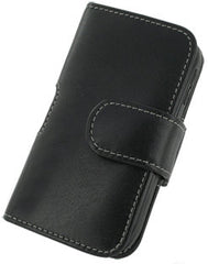 Palm Pre Plus Monaco Horizontal Pouch Type Leather Case - Black