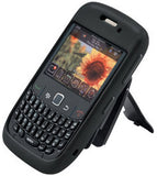 BlackBerry Curve 8520 8530 Body Glove Silicone Phone Case with Clip - Black Original (OEM) 9108901 / 9132801