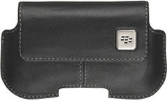 BlackBerry Leather Horizontal Swivel Holster - Black Original (OEM) HDW-18965-001