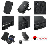 BlackBerry Bold 9700 Monaco Book Type Leather Case - Black