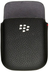 BlackBerry Style 9670 Leather Pocket Case - Black Original (OEM)